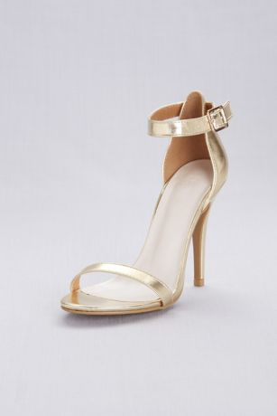 045a537563a David s Bridal Black Grey White Yellow Heeled Sandals (Simple Ankle Strap  Sandals