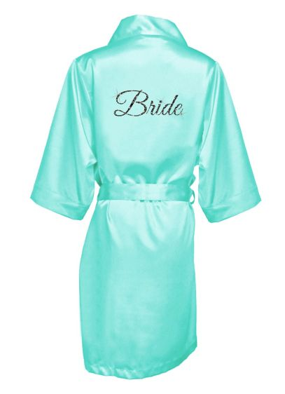 Glitter Print Bride Satin Robe - Wedding Gifts & Decorations