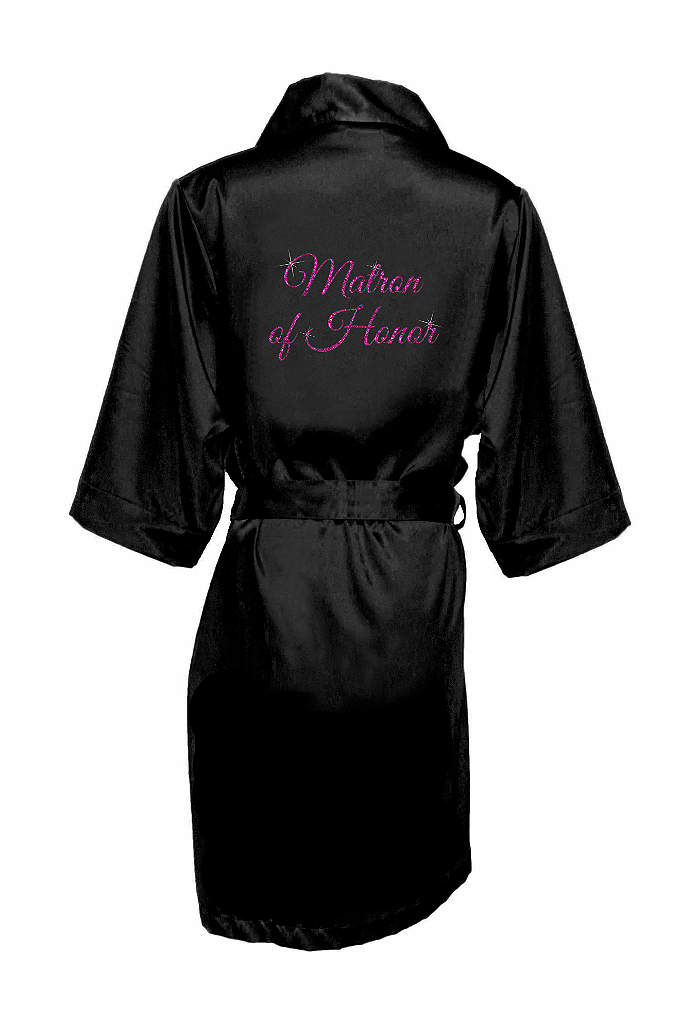 Glitter Matron of Honor Satin Robe - Wrap your matron of honor in luxury in