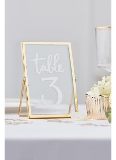 Gold Standing Frames - These stunning gold free standing photo frames will