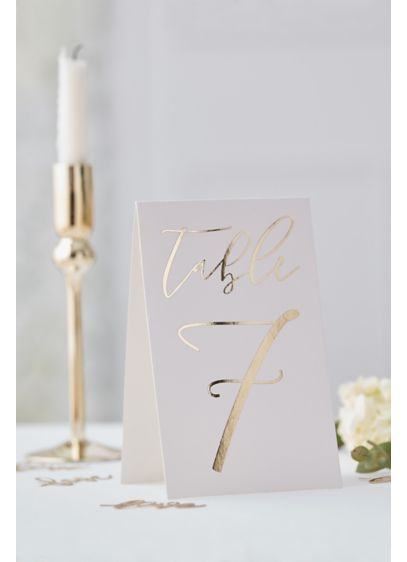 Gold Table Card Numbers - Wedding Gifts & Decorations