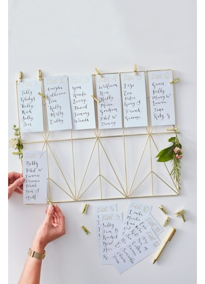 Ginger Ray Gold Wedding Table Plan Kit - Put your table plan on display for your