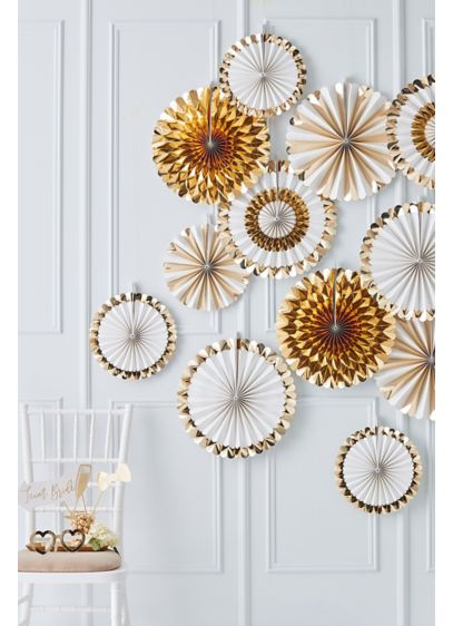 Gold Fan Decoration - A sure to be talking point of your