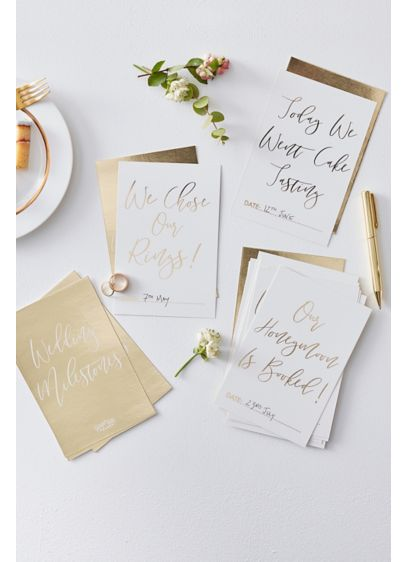 Gold Foil Wedding Milestone Cards - Document the steps leading up to your big