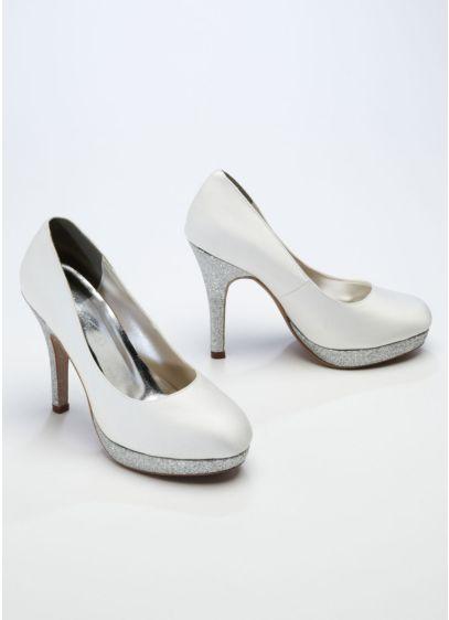 Ivory (Glitter High Heel Platform Pump)