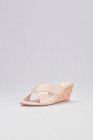 0b06c072ea6 Charles By Charles David Beige (Cross-Strap Slip-On Cork Wedge Sandals).  Save
