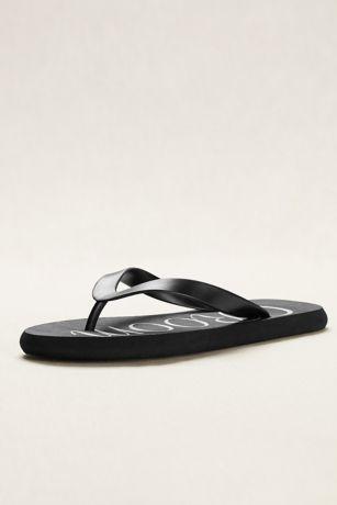 David's Bridal Black Flip Flops (Groom Flip Flops)