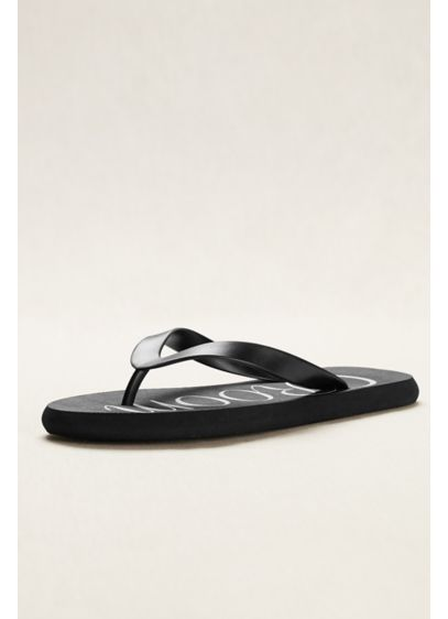 David's Bridal Black (Groom Flip Flops)