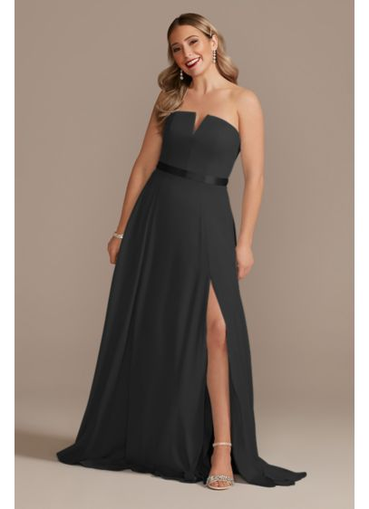 Georgette V-Wire Bridesmaid Dress with Corset Back - A modern bridesmaid dress full of sexy details,