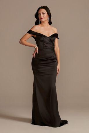 Long Mermaid / Trumpet Off the Shoulder Dress - Galina Signature