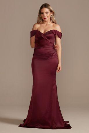 Structured Galina Signature Long Bridesmaid Dress