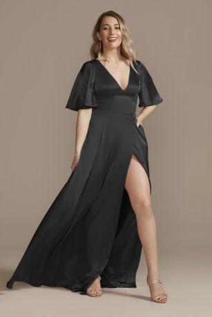 Long A-Line Short Sleeves Dress - Galina Signature