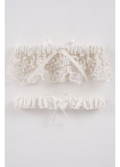 DB Exclusive Beaded Lace Garter Set - Wedding Accessories