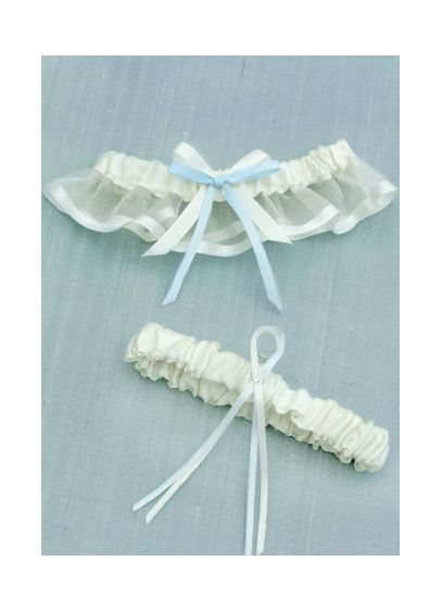 Ivory (DB Exclusive Cheerful Bow Garter Set)