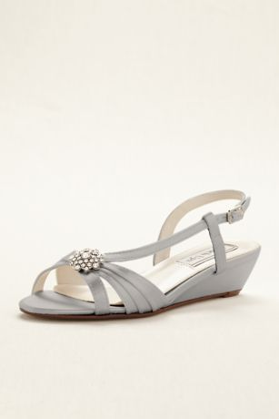 Touch Ups Grey Heeled Sandals (Geri Wedge Sandal by Touch Ups)