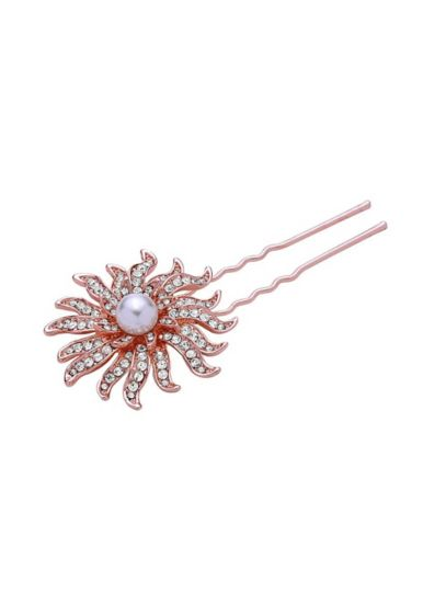 Pearl and Crystal Sunburst Hair Pin - Wedding Accessories