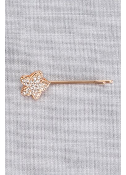 Pave Starfish Bobby Pin - Sparkling pave crystals add glamorous sparkle to this