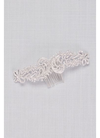 Grand Crystal Flower Vine Hair Comb - Add maximum sparkle and shine to your wedding