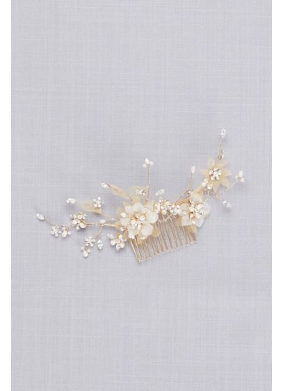 Twined Wire Flower Comb - Wedding Accessories
