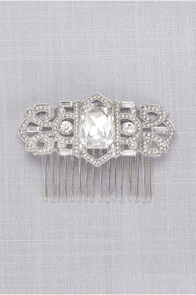 Art Deco Crystal Pave Comb - Inspired by the elegance of the Art Deco