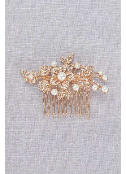 Nina Grey (Pave Crystal and Pearl Comb)