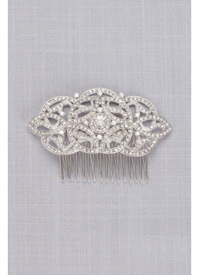 Art Deco Pave Crystal and Pearl Comb - Inspired by the elegance of the Art Deco