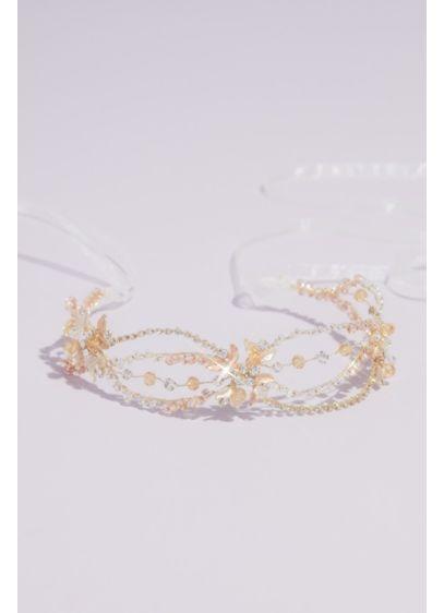 Yellow (Crystal Loops Floral Headband)