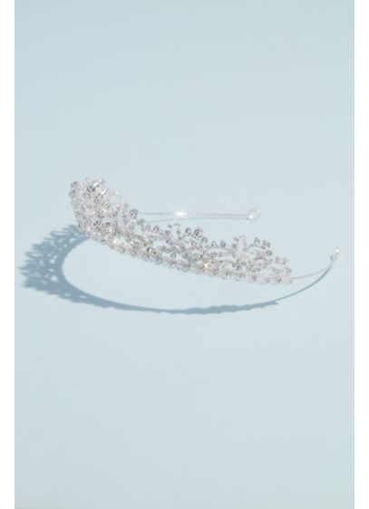 David's Bridal Grey (Crystal Embellished High-Shine Tiara)
