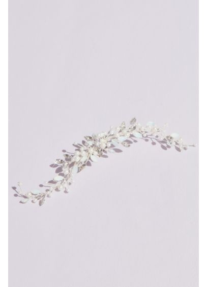 Marquise Crystal and Pearl Bud Spray Clip - A lovely clip for a big-day do, featuring