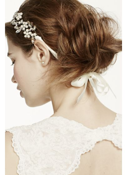 Cut Crystal Tie-Back Headband - Wedding Accessories