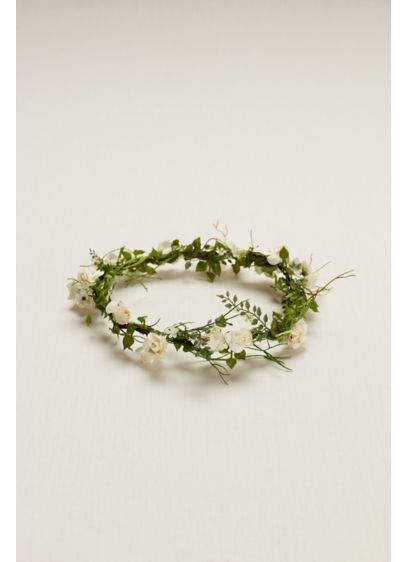 David's Bridal Ivory (Flower Girl Flower Crown)