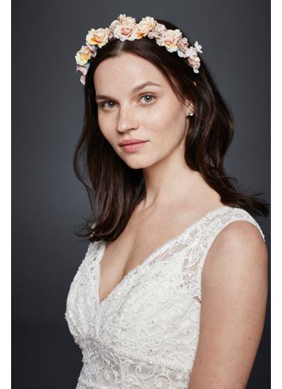 Watercolor Flower Headband - Wedding Accessories