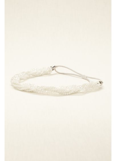 David's Bridal Grey (Pearl and Crystal Twist Headband)