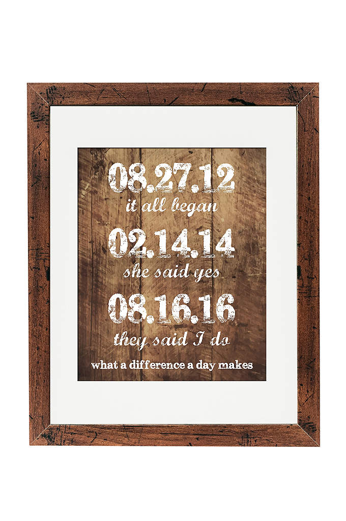 Personalized What a Difference a Day Makes Sign - Commemorate important relationship milestones with this personalized special