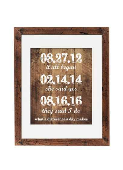 Personalized What a Difference a Day Makes Sign - Wedding Gifts & Decorations