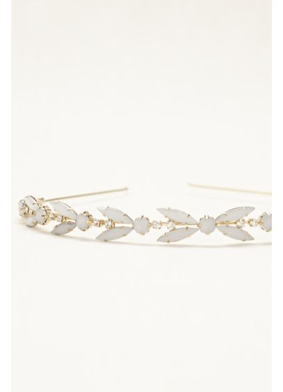 Faceted Stone Hard Headband - Wedding Accessories