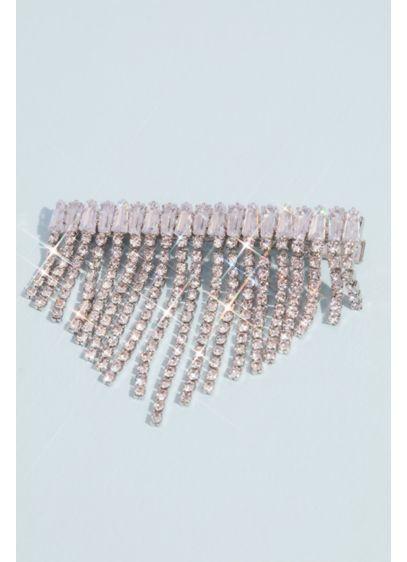 Crystal Fringe Barrette - This crystal barrette's sweeping fringe adds some fun