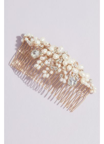 Dripping Pearls Comb with Crystals - Wedding Accessories