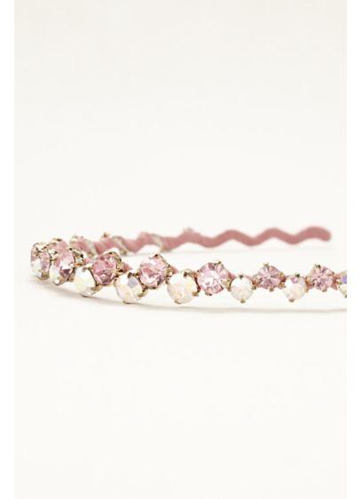 David's Bridal Pink (Fabric Wrapped Crystal Headband)