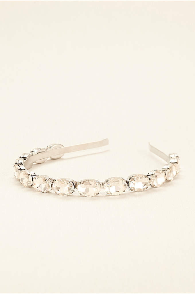 Faceted Oval Crystal Headband