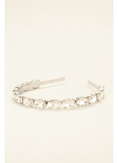 Faceted Oval Crystal Headband - Wedding Accessories