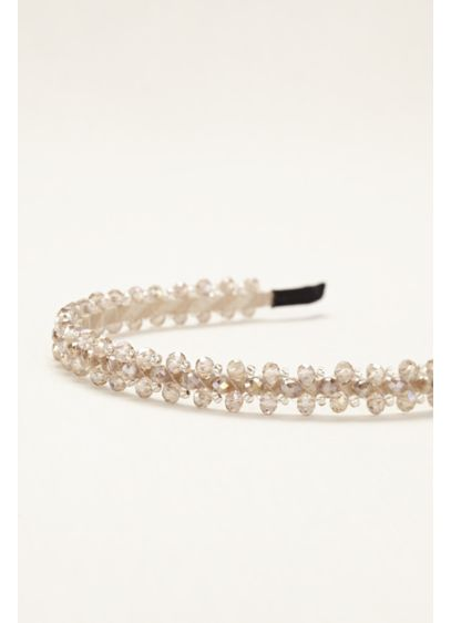 Multi Faceted Bead Wrapped Headband - Wedding Accessories