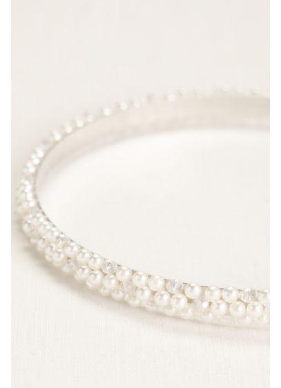 Triple-Row Pearl Headband - Wedding Accessories