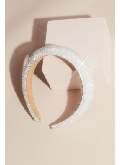 Allover Beaded Headband - Allover beading adds modern shine to this cool