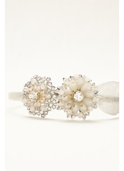 David's Bridal Ivory (Floral Side Motif Hard Headband)