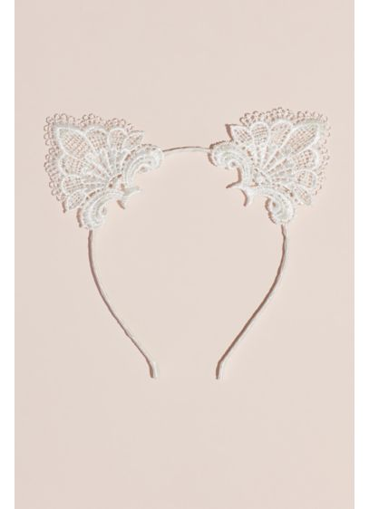 Eyelash Lace Cat Ears Headband - Let's get the bachelorette party started right MEOW.