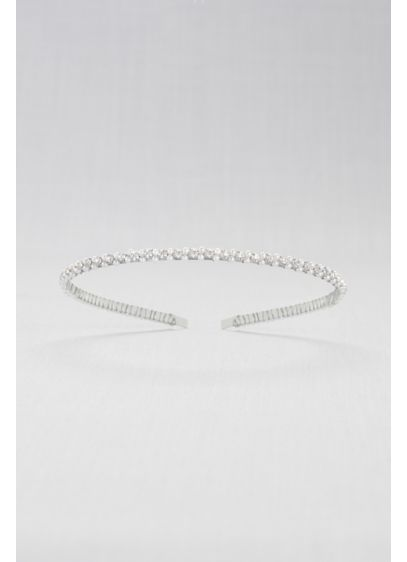 Double Pearl and Crystal Headband - Wedding Accessories