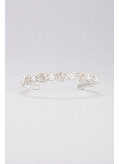 Pearl Halo and Crystal Medallion Headband - Wedding Accessories