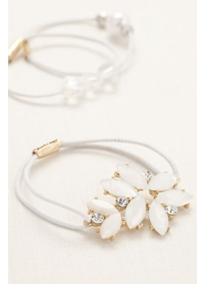 Set of Three Cluster Ponytail Holders - Wedding Accessories