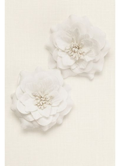 Flower Girl Duo Flower Hair Cips - Wedding Accessories